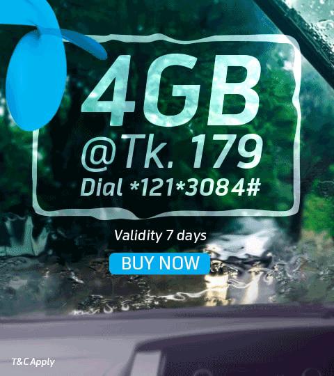 4GB at Tk 179