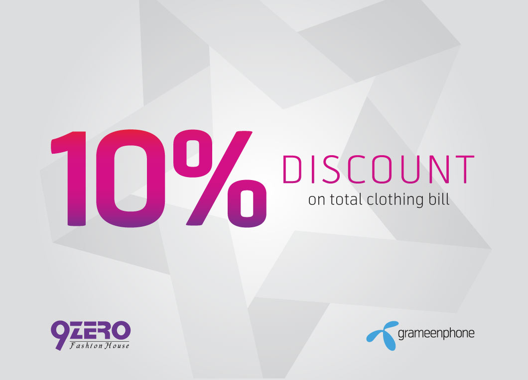 GP Star Can Get 10% discount at 9ZERO