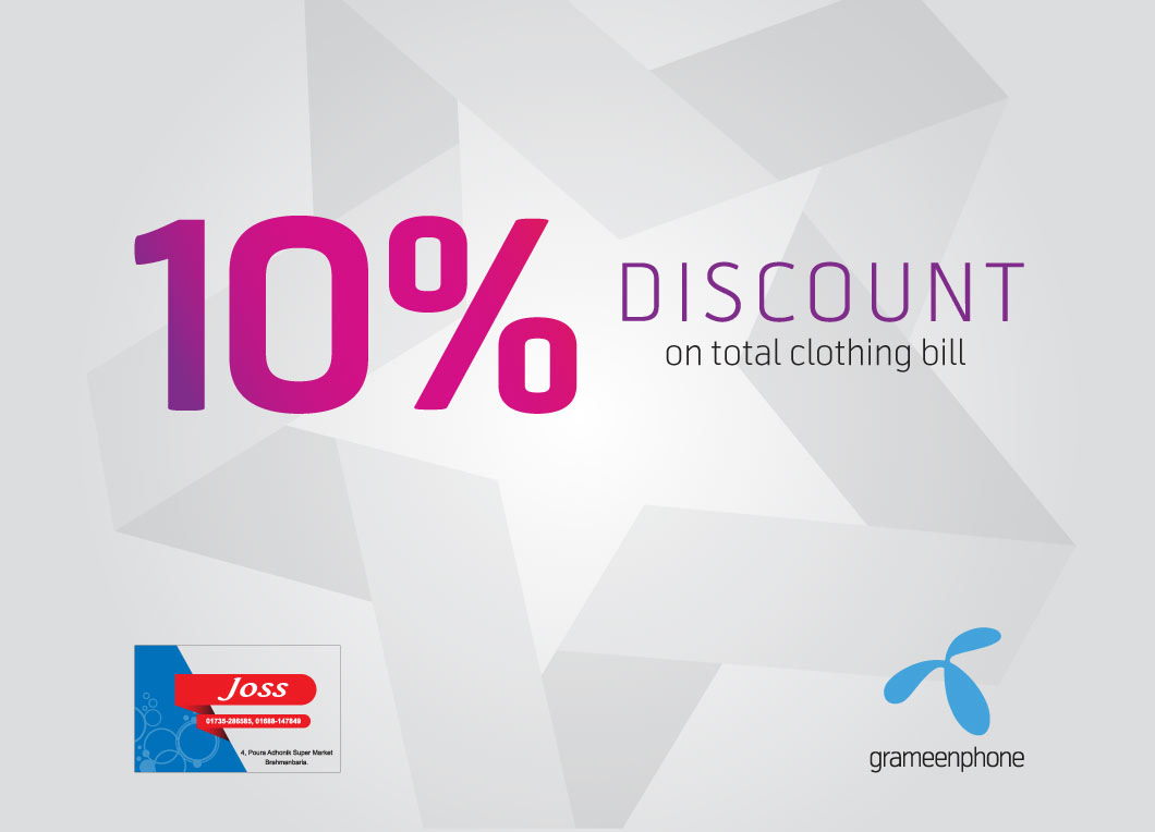GP Star Can Get 10% discount at JOSS