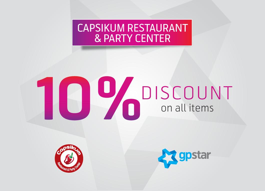Star offer at Capsikum Restaurant